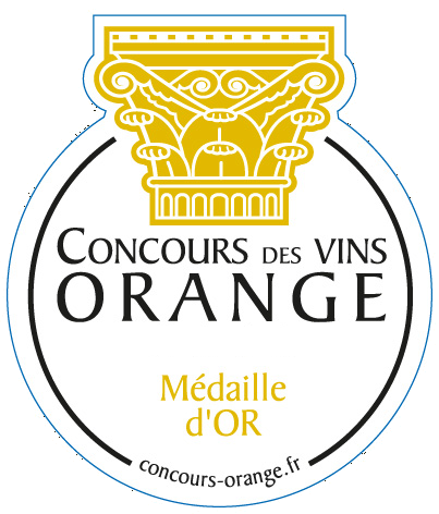 médaille or orange